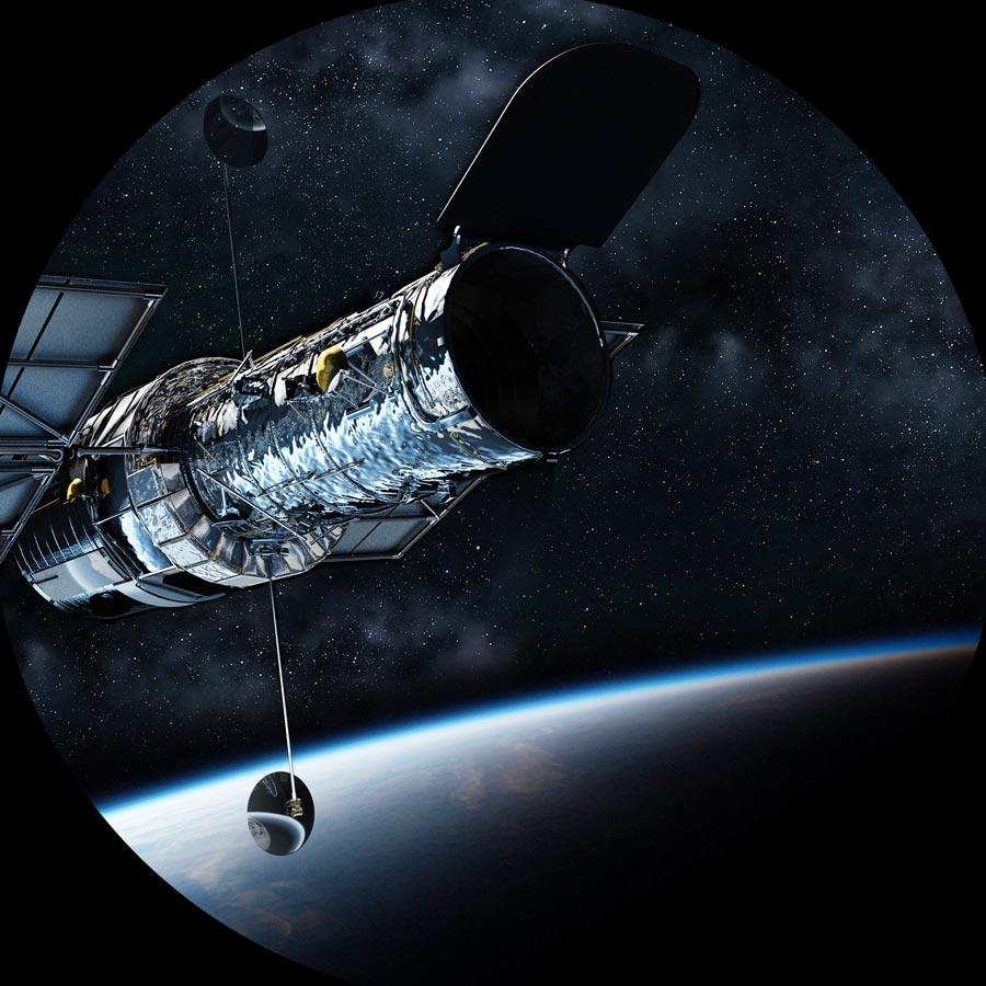 Telescope Hubble au dessus de la Terre